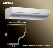 Карниз АК30-2