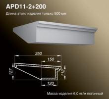Подоконник APD11-2+200