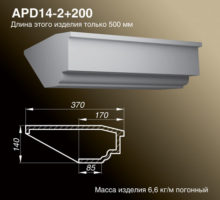 Подоконник APD14-2+200