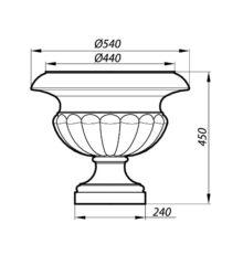Размеры вазона-AVZ45-2